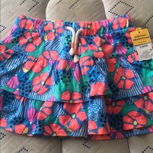 New with tags Toddler girl floral skirt size 6